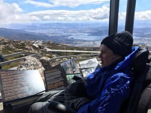 wheelchair guest at Mount Wellington Tasmania